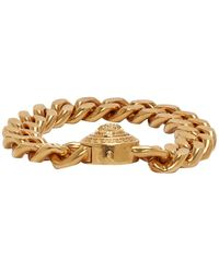 Versace Gold Large Chain Medusa Bracelet - Metallic