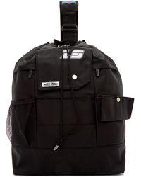 ADER error Ssense Exclusive Black Ascc Single Strap Backpack