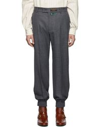 Gucci Gray Sharkskin Classic Pants