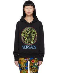 Versace - ブラック ネオン メドゥーサ フーディ - Lyst