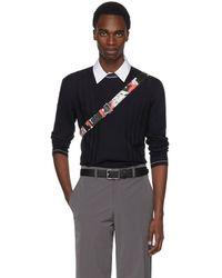 Prada - Navy Contrast Collar Sweater - Lyst