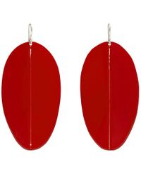 Simon Miller - Red Medium Pointed Shield Earrings - Lyst