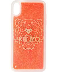 KENZO ピンク Glow-in-the Dark Tiger Iphone X/xs ケース