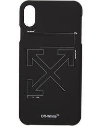 Off-White c/o Virgil Abloh - ブラック And ホワイト アンフィニッシュ Iphone X ケース - Lyst