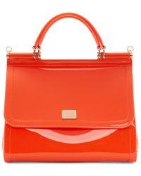 Dolce & Gabbana - Orange Pvc Miss Sicily Bag - Lyst