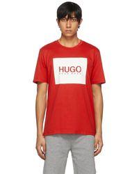 HUGO レッド Dolive T シャツ