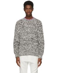 Isabel Marant - White And Black Qenji Arty Knit Sweater - Lyst