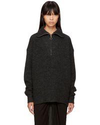 Étoile Isabel Marant - Black Declan Zip Sweater - Lyst