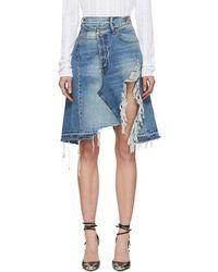 R13 Blue Denim Norbury Skirt