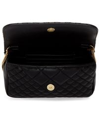 Versace Black Mini Quilted Icon Bag