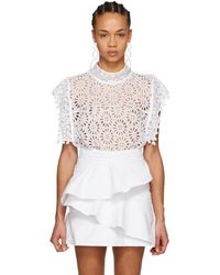 Isabel Marant - White Kery Broderie Anglaise Blouse - Lyst