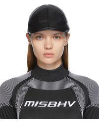 MISBHV Casquette plate 1997 Cannes noire en cuir synthétique