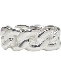 Maison Margiela - Silver Curb Chain Ring - Lyst
