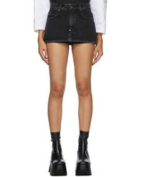 Pushbutton - Ssense 限定 ブラック Miniskirt ショーツ - Lyst