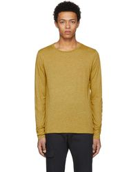 Burberry - Yellow Marchston Burnout T-shirt - Lyst