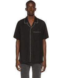 Ksubi ブラック Downtown ショート スリーブ シャツ