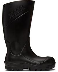 1017 ALYX 9SM ブラック ロゴ レイン ブーツ