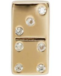 Marc Jacobs - Gold Domino Something Special Earring - Lyst