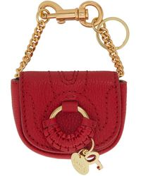 See By Chloé Red Hana Coin Pouch