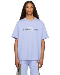 Helmut Lang ブルー Layer ロゴ T シャツ