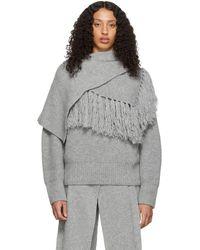 Sacai グレー スカーフ セーター