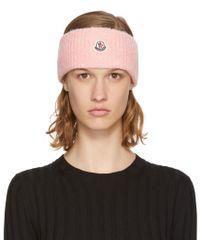 Moncler - Pink Logo Headband - Lyst