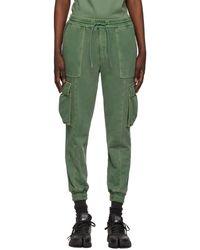 Juun.J Khaki Slim Cargo Lounge Pant - Green