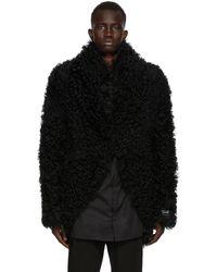 Ann Demeulemeester Ssense Exclusive Reversible Black God Of Wild Shearling Jacket
