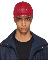 Vetements - Red Haute Couture Logo Baseball Cap - Lyst