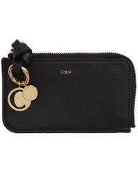 Chloé Black Alphabet Card Holder