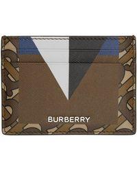 Burberry - ブラウン & ブラック Tb Sandon カード ケース - Lyst
