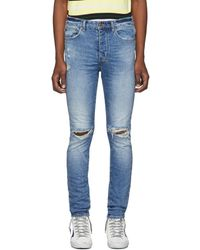 Ksubi Blue Nostalgia Trashed Chitch Jeans
