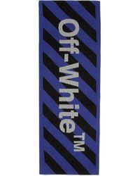 Off-White c/o Virgil Abloh - ブルー And ブラック アロー マフラー - Lyst