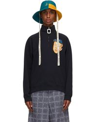 JW Anderson - ブルー And イエロー Asymmetric バケット ハット - Lyst