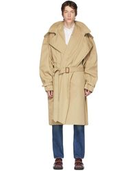 Y. Project Beige Infinity Trench Coat - Natural