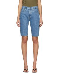 SLVRLAKE Denim Blue Beatnik Cut-off Shorts
