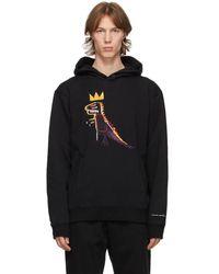 COACH Jean-michel Basquiat Edition ブラック フリース フーディ