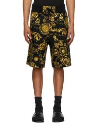 Versace Jeans Couture ブラック & ゴールド Regalia Baroque ショーツ