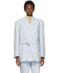 Acne Studios - ブルー Belted Suit ブレザー - Lyst