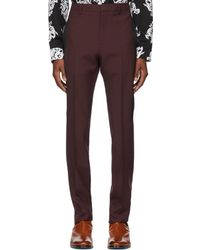 Givenchy | Burgundy Slim Trousers | Lyst