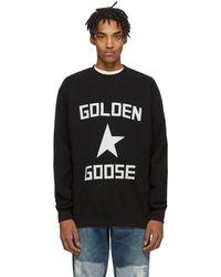 Golden Goose ブラック And ホワイト スター スウェットシャツ