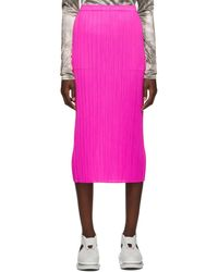 Pleats Please Issey Miyake Pink New Colorful Basics 2 Skirt