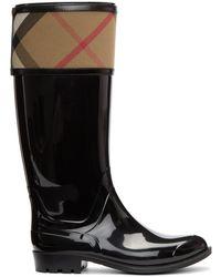 Burberry - Black Croshill Rain Boots - Lyst