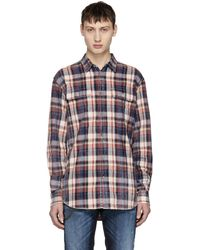 DSquared²   Multicolor Bleached Check Shirt   Lyst