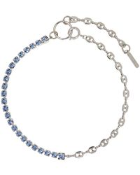 Justine Clenquet - Ssense Exclusive Blue Vic Necklace - Lyst