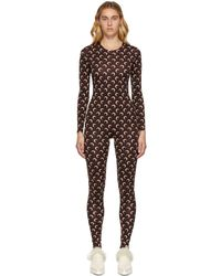 Marine Serre Iconic All Over Moon Jumpsuit - Brown