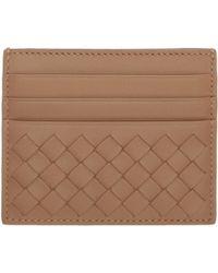 Bottega Veneta | Pink Intrecciato Card Holder | Lyst
