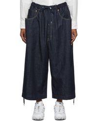 Fumito Ganryu Five-pocket Parkour Jeans - Blue