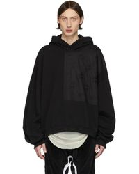 Haider Ackermann Pull a capuche noir Perth Patch