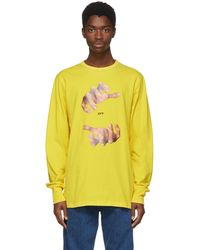 Off-White c/o Virgil Abloh | Yellow Long Sleeve Hands T-shirt | Lyst